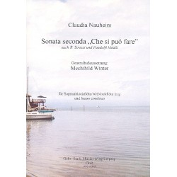 Nauheim, Claudia: Sonate Nr.2 Che si puó fare für Sopranblockflkte (Altflöte in G) und Bc Partitur und Stimmen (Bc ausgesetzt)