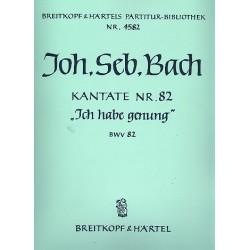 Bach, Johann Sebastian: Ich habe genung : Kantate Nr.82 BWV82 Partitur (dt)