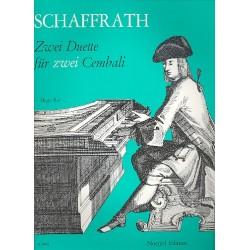 Schaffrath, Christoph: 2 Duette : für 2 Cembali 2 Partituren