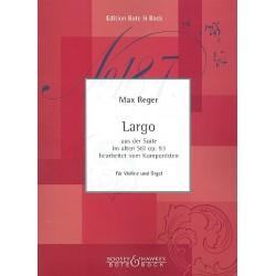 Reger, Max: Largo : f├╝r Violine und Orgel