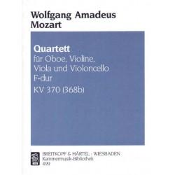 Mozart, Wolfgang Amadeus: Quartett F-Dur Nr.30 KV370 : für Oboe, Violine, Viola und Violoncello 4 Stimmen