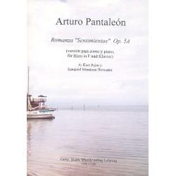 Pantaleón, Arturo: Romanza Sentimientos op.5a für Horn in F und Klavier