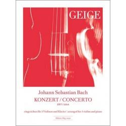 Bach, Johann Sebastian: Konzert D-Dur für 3 Violinen und Streicher : für 3 Violinen und Klavier