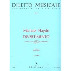 Divertimento B-Dur Perger92 : für Oboe, Fagott, Violine, Viola und Kontrabaß, Stimmen