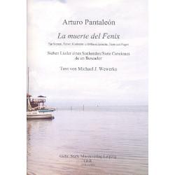 Pantale├│n, Arturo: La muerte del Fenix : f├╝r Sopran, Tenor, Klarinette (Bassklarinette), Horn in F und Fagott Partitur und