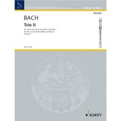 Bach, Johann Sebastian: Trio No.2 : for 2 recorders (AT) and piano