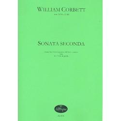 Corbett, William: Sonata seconda : f├╝r 2 Viole da gamba und Bc oder 3 Viole da gamba Partitur und Stimmen