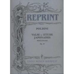 Poldini, Ede: Valse et etude japonaises op.27 : pour piano