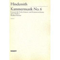 Hindemith, Paul: Konzert op.46,1 : für Viola d'amore und Kammerorchester Studienpartitur