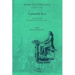 Heinichen, Johann David: Concerto a-moll für Orchester : für Orgel oder Cembalo Cerutti, Laura, Bearb.