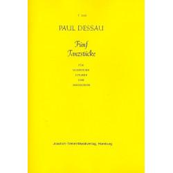 Dessau, Paul: 5 Tanzstücke : für Mandoline, Gitarre und Akkordeon, Partitur und Stimmen