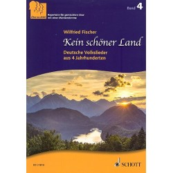 Chor zu dritt Band 4 - Kein schöner Land : für gem Chor (SAM) und Klavier Partitur