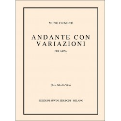 Clementi, Muzio: Andante con variazioni : per arpa Vita, Mirella, rev.