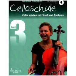Koeppen, Gabriel: Cello spielen mit Spaß und Fantasie Band 3 - Schule ( +CD )