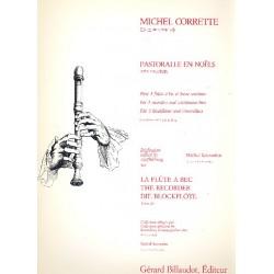 Corrette, Michel: Pastorelle en noels : pour 3 flutes à bec et Bc partition et parties