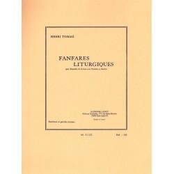 Tomasi, Henri: Fanfares litugiques : pour ensemble de cuivres, timbales et batterie partition et parties