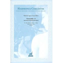 Biber, Heinrich Ignaz Franz von: Serenada à 5 : für 2 Violinen, 2 Violen, Violone und Cembalo (Bass (Gesang) ad lib) Partitur