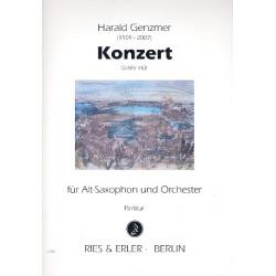 Genzmer, Harald: Konzert GeWV153 für Altsaxophon und Orchester Partitur