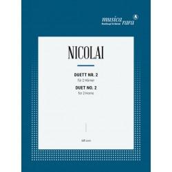 Nicolai, Otto Carl Ehrenfried: Duett Nr.2 : f├╝r 2 H├Ârner Spielpartitur