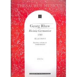 Rhaw, Georg: Bicinia Germanica (1545) : für 2 Stimmen oder Instrumente Partitur