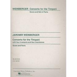 Weinberger, Jaromir: Concerto for the timpani : für Pauken, 4 Trompeten und 4 Posaunen Partitur und Stimmen