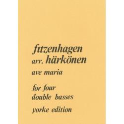 Fitzenhagen, Wilhelm: Ave Maria : for 4 double basses score and 4 parts