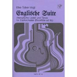 Tober-Vogt, Elke: Englische Suite : für Zupforchester und Blockflöte ad lib. Partitur