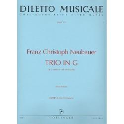 Neubauer, Franz Christoph: Trio G-Dur : für 2 Violinen und Violoncello Partitur und Stimmen