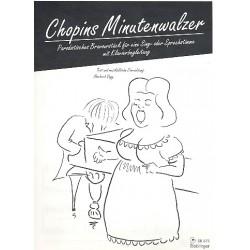 Chopin, Frédéric: Minutenwalzer : parodistisches Bravourstück für Gesang und Klavier Vogg, Herbert, Text