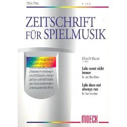 Maurer, Albrecht: Lola rennt nicht immer für 4 Blockflöten (ATBB) Partitur und Stimmen