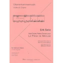 Satie, Erik: 7 ganz kleine Tänze für 'Die Falle des Qualle' für Violine und Gitarre