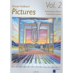 Hellbach, Daniel: Pictures vol.2 (+CD) : für Euphonium und Klavier