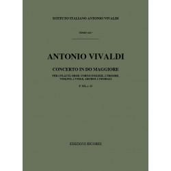 Vivaldi, Antonio: Concerto do maggiore F.XII,23 : für 2 Flöten, Oboe, Engl. Horn, 2 Trp, Streicher und 2 Cembali, Partitur