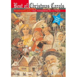 Best of Christmas Carols : 45 well-known carols for 1-2 voices and guitar chords