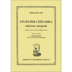Sor, Fernando: Studi vol.2 (op.31 e op.35) : per chitarra