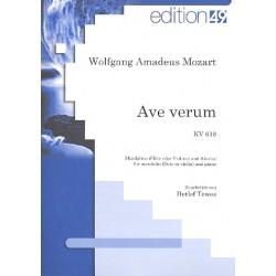 Mozart, Wolfgang Amadeus: Ave verum KV618 : für Mandoline (Flöte/Violine) und Klavier