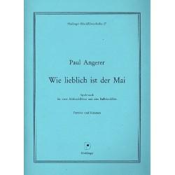 Angerer, Paul: Wie lieblich ist der Mai : f├╝r 3 Blockfl├Âten (AAB) Partitur und Stimmen