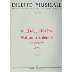 Haydn, Johann Michael: Notturno solenne Es-Dur Perger deest für 2 Hörner und Streicher Partitur