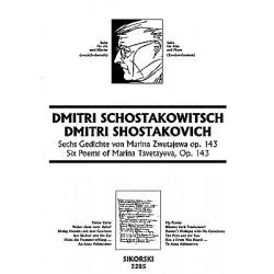 Schostakowitsch, Dimitri: 6 Gedichte von Marina Zwetajewa op.143 : für Altstimme und Klavier (russ/deutsch)