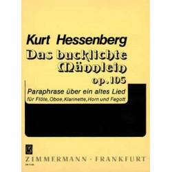 Hessenberg, Kurt: Das bucklige Männlein : für Flöte, Klarinette, Horn und Fagott