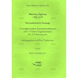 Agricola, Martin: Instrumentische Gesänge Choralgebundene Instrumentalkanons mit 1-2 freien Gegenstimmen für 3-4 Instrumente, 3