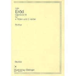 Eröd, Ivan: Capriccio 81 : für 4 Flöten und 2 Harfen, Studienpartitur (Partitur)