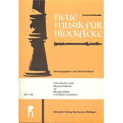 Linde, Hans Martin: Musica Notturna : für Bassblockflöte und Klavier Braun, Gerhard, Ed