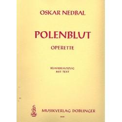 Nedbal, Oskar: Polenblut Klavierauszug