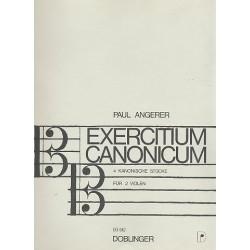 Angerer, Paul: Exercitium canonicum : 4 kanonische Stücke für 2 Violen Spielpartitur