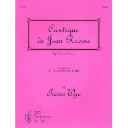 Fauré, Gabriel Urbain: Cantique de Jean Racine : for flute choir (4) and piano parts