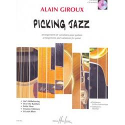 Giroux, Alain: Picking jazz (+CD) : arrangements et variations pour guitare (+tablature)