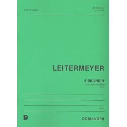 Leitermeyer, Fritz: 6 Bicinien op.43 : für 2 Trompeten