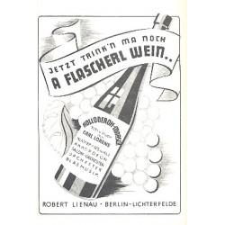 Lorens, Carl: Jetzt trink'n ma noch a Flascherl Wein: für Salonorchester