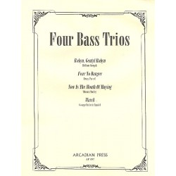 4 Bass Trios : for bass recorders 4 scores